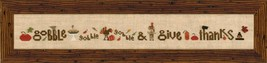 Gobble and Give Thanks cross stitch chart Heart in Hand - $12.60