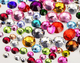 300Pc Swarovski Flatback Crystal Non Hotfix Mix Color Mix Size SS8/10 Rh... - $11.99