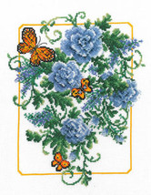 Blue Fanfare cross stitch chart Imaginating - $5.40