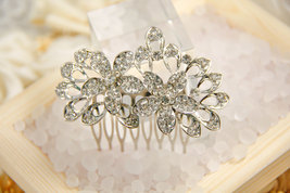 Spring Symphony Crystal Bridal hair comb , wedding hair accessory vintag... - $39.00