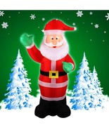 Inflatable Christmas Santa Claus Yard Airblown Decorations Holiday Outdo... - $111.49