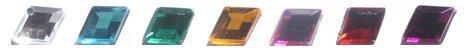 10x7mm Hyacinth .HC Flat Back Diamond Acrylic Jewels High Quality Pro Grade -...