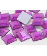 12mm Lite Amethyst AB Flat Back Square Acrylic Jewels High Quality Pro G... - $5.83