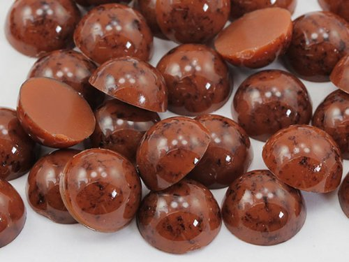 Primary image for 13mm Brown H617 Round Marble Cabochon High Quality Pro Grade - 30 Pieces