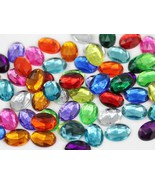 14X10mm Assorted Colors Oval Jewels - 125 Pieces [Kitchen] - $16.09