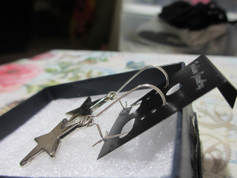 Handmade Star Dangle Earrings