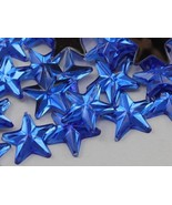 15mm Sapphire .PH Flat Back Acrylic Star Jewels High Quality Pro Grade -... - $5.31