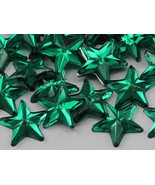 15mm Emerald .MD Flat Back Acrylic Star Jewels High Quality Pro Grade - ... - $5.31