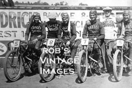 Harley Davidson Motorcycle racing team Photo   Antique  8X10 - $7.47