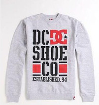 MEN'S GUYS DC SHOES ROB DYRDEK RD PULLOVER CREW FLEECE SWEATSHIRT GRAY N... - $34.99