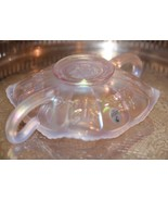 FENTON 2 Handle Candy Dish BUTTERFLY OPAL WHITE  IRRIDESCENT Carnival Gl... - $49.99