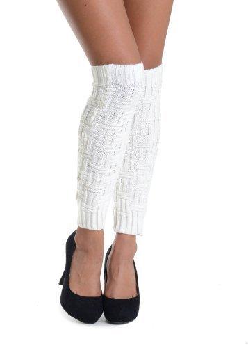 The Arc Fashion Designed Leg Warmer - Free Size (free size, white) [Apparel]