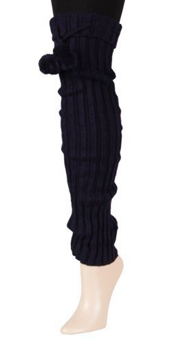 Pandora Fashion Designed Over the Knee Leg Warmer - One Size (Navy) [Apparel]