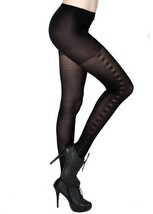 Side Stitches Black Nylon Tights One Size [Apparel] - $10.88