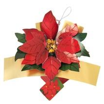 Christmas Petite Pop Ups Christmas Greeting Card - Poinsettias New - $14.28