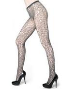 Mosaic Lines Fishnet Pantyhose (Queen, Grey) [Apparel] - $13.85