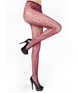 Mosaic Lines Fishnet Pantyhose (Queen, Wine) [Apparel] - $13.85