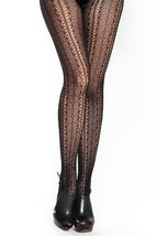 Abstract Fishnet Pantyhose (Queen, Vertical Chain Cutount) [Apparel] - $13.85