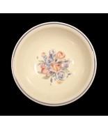 "Pfaltzgraff GateHouse Soup Cereal 6"" Bowl Blue Pink Floral Ivory China - $4.95"