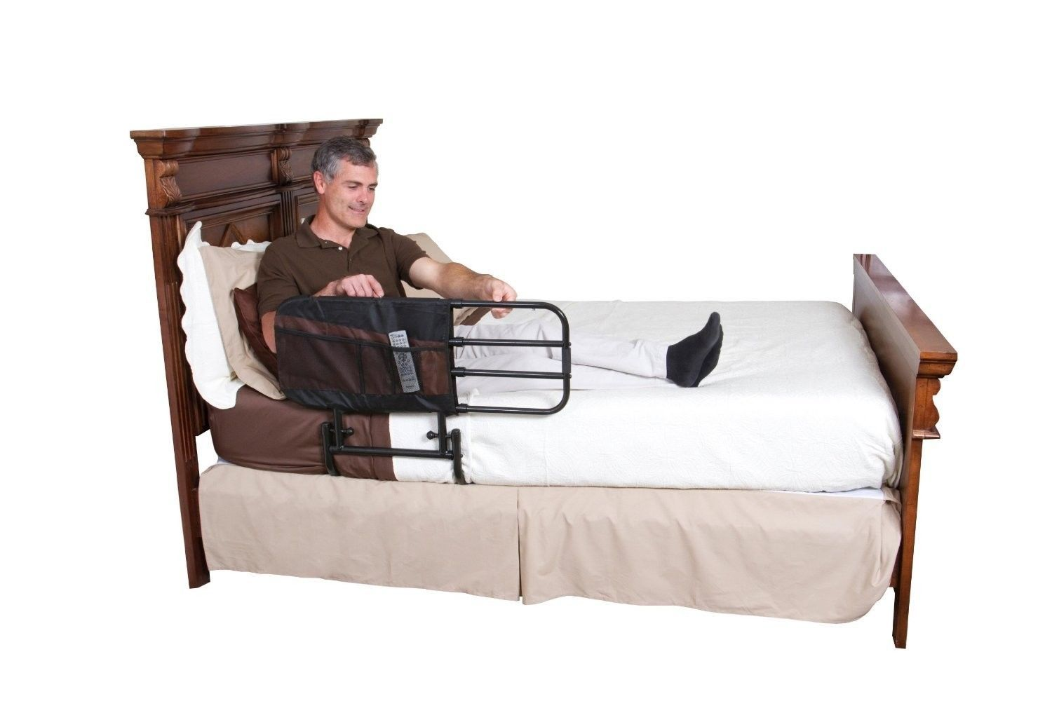 Adjustable hand rail bed assist safety ez folding medical mobility elderly gate other - Triangolo per alzarsi dal letto ...