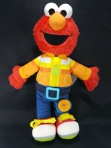 "Dress Me Up Elmo Plush Playskool Friends Sesame Street Zip Up Button Muppet 15"" - $13.36"
