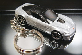 Silver 2009 Chevrolet Corvette ZR1 Keychain Key Ring Fob 09 - $13.07