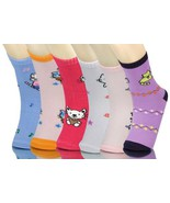 Girl Children Socks-6 Pairs (Small (6-18 months), Cat) [Apparel] - $7.91