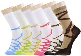 Crew Cut Novelty Socks 6 Pairs Assorted Colors Size 9-11 (9-11, Ballerina) - $11.87
