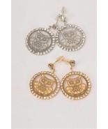 Fashion owl Filigree Rhinestone Earrings Brand New - $5.00