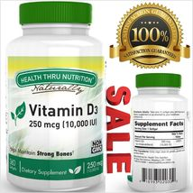 Vitamin D3 10000 Iu Mini Softgels 360 capsules High Strength Calcium Mag... - $19.00