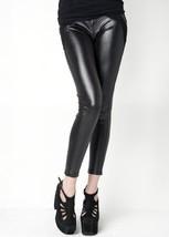 Fashion Mic Women's Faux Leather Liquid Leggings (S/M, back fabric) [App... - $25.73