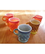 5 Anchor Hocking Kimberly glass coffee cups - $24.95