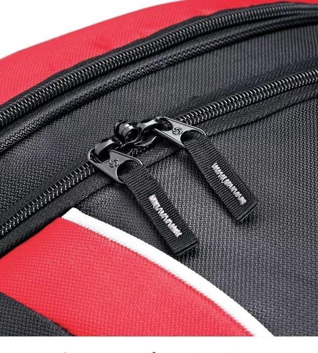 """Samsonite Andante Drop Bottom 28"""" Wheeled Duffel Bag in Black-Red"""