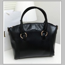 Large Crocodile Leather Designer Tote Handbag with Inside Side Zipper Pockets image 3