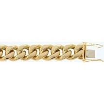 "Fine 10K Yellow Gold Miami Cuban Chain 20 mm Bracelet Size 7""-9"" - $4,823.28+"