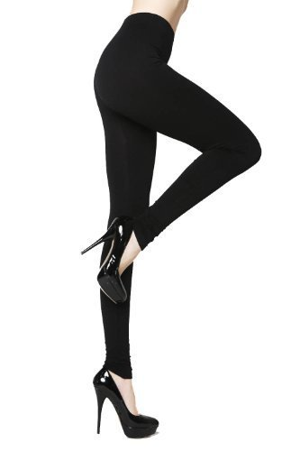 Primary image for New Yelete Lady's Solid Color Nylon Seamless Leggings (Black) [Apparel]