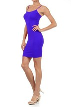 Women Solid Color Seamless Cami Dress with Spaghetti Straps (one size, royal ... - $8.90