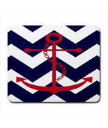 CHEVRON ANCHOR SALORMAN DESIGN LAPTOP COMPUTER GAMING MOUSE PAD MATS MOU... - $10.09 CAD