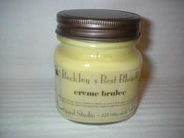 Beckley's Best CREME BRULEE Soy Candle 8oz Mason Jar FREE Ship! - $26.72