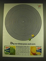1966 Libby's Peas and Corn Ad - Dig our dizzy peas and corn - $14.99
