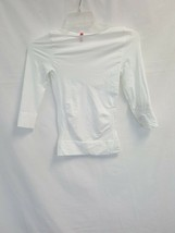 Spanx Shapewear Boat Neck On Top and In Control Essential 3/4, White, Me... - $64.35