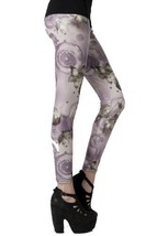 Fashion Mic Womens Graphic Print Liquid Leggings (S/M, floral vines) [Ap... - $29.69