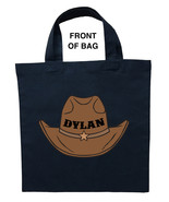 Cowboy Trick or Treat Bag, Personalized Cowboy Halloween Loot Bag, Cowbo... - $11.39+