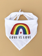 Pet Bandana,Rainbow Print Pet Scarf, Dog bandanas, Cat bandanas, Pet gifts - $11.60