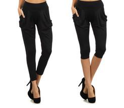 Fashion Mic Capri and Full Length Black Harem Pants for Women - $9.89+