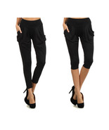Fashion Mic Capri and Full Length Black Harem Pants for Women - $9.89+