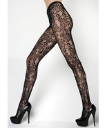 Fashion Mic Women's Floral Vines Fishnet Pantyhose Regular and Queen - $13.85