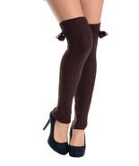 Fashion Mic Women's Pom Pom Pattern Leg Warmer Multiple Colors - $11.87