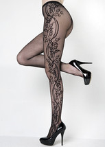 Fashion Mic Women's Flower Blossom Vine Fishnet Pantyhose Regular & Queen - €11,77 EUR