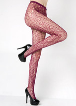 Fashion Mic Women's Mosaic Line Print Fishnet Pantyhose Stockings - €12,23 EUR